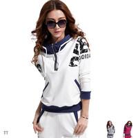 604 a sweatshirt set female casual set sports set Women spring and autumn casual female set