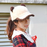 Free shipping/New arrival/2013 Hot sale/Warm cap/Rabbit fur baseball cap winter women's plush baseball cap hat thermal trend