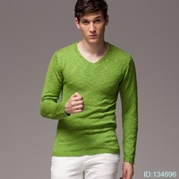 Free shipping, retail, bulk Kai Di Utah Winter Slim bottoming shirt striped cashmere sweater men sweater men sweater