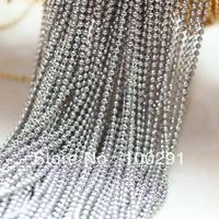 free shipping!!! 100m Fashion long jewelry chain ,1.5mm round ball Nickle metaljewelry accessories