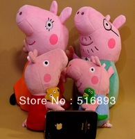 Peppa Pig Family Daddy/Mummy Pig Teddy Bear Peppa George Plush Toys Large 30CM Cartoon Kids Toddler Toys Christmas Gifts 20pcs
