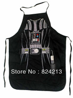 "New COOKING APRON Novelty Funny SEXY women men unisex adult black Darth Vader DINNER PARTY black  free shipping 22""*28"""