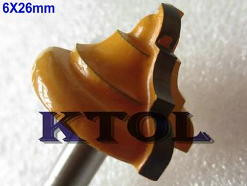Sharp Edge Milling6x26MM D- 5pcs Roman Ogee Carbide CNC Cutting Router Bits Set for Wood Tool, Free Shipping endmill cutter bit