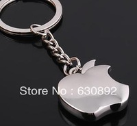 Apple shape cheap Zinc Alloy key chain