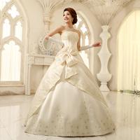 Free Shipping Hot Sale  2014 Wedding Tube Top  High Quality Wedding Dress Sweet Princess Dress Plus Size 14
