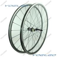 1410g Carbon Wheels 24mm With Aluminum Braking Surface 700C Clincher Wheelset Road Bike 3K Matt  Novatec 291-SL/482-SL