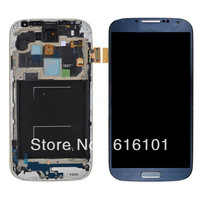 Replacement Front LCD Screen Display  Touch Digitizer  Frame  With Frame Bezel For Samsung Galaxy S4 IV i337 M919 - Black