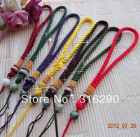 20pcs/lot mix color Penguin handmade quality knopper pieces rope jade play off pieces lanyard jade rope