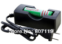 Free Shipping, TangsFire High Capacity 18650 3600mAh 3.7V Rechargeable Li-Ion Battery with Single Charger for Led Flashlight
