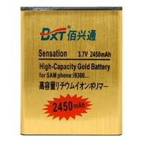 Amazing BXT Brand Gold High Capacity 2450mah battery for Samsung Galaxy SIII EB-L1G6LLU I9308 I9300  mobile battery