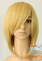 WIGS New Short Cosplay Warm Blonde Wig wigs +WEAVING cap