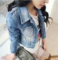 Hot Sale! Newest Fashion Women Ladies Jean Denim Jacket Outwear Long Sleeve Short Coat. Free Shipping, Y9
