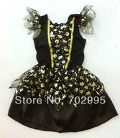 Fast delivery halloween costume for kids,black witch dress size:65cm