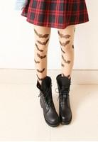 Gothic lolita tights HARAJUKU style japanese pantyhose  Vintage sexy halloween thin pantyhose bat  tattoo tights for girls