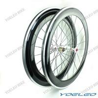 60mm + 80mm Carbon Aluminum Wheels Clincher 700C Road Bicycle Wheelset 3K Gossy Novatec Hubs 271/372 CN Aero 494 Spokes