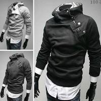 Free Shipping New Fashion Men's Hoodies High Collar Men's Jacket 5 Colors Outwear Coats Size M-XXXL ZW03