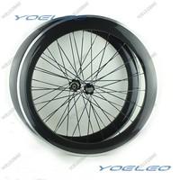 3K Glossy 60mm Carbon Wheels 700C Clincher Alloy Braking Surface Carbon Road Bike Wheels With Novatec Hubs 271/372 CN Spokes
