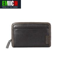 Emich fashion crocodile pattern male long design genuine leather wallet cowhide man bag clutch bag