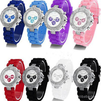 11 color Fashion Cool Lovely Stylish Watches Women and Men's Crystal Wrist Watch Outdoor