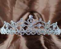 Stunning HEART ROYAL Austrian Rhinestones Clear Crystal Crowns and Tiaras Bridal Wedding Prom Pageant Party Hairband