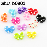 Freeshipping-60pcs/box white dot bowknot Perfect 12 Colors Nail Art Decoration  SKU:D0801