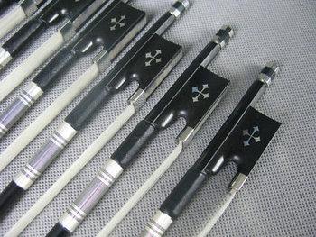 10pcs professional black Carbon fiber 4/4 violin bow