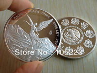 500pcs/lot  Free Shipping 2008 LAY PLATA PURA 1oz .999 Pure silver coin Mexico coin,Mexico Angel Girl Silver Round Coins