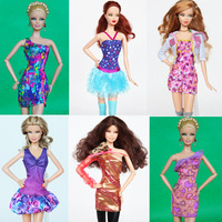 2013 new 17 piece/lot  star style Super fashion  Colorful dress for Barbie dolls