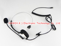 4-pin RJ9 Crystal Head Super Telephone Monaural Corded Headset Silver