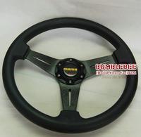 Free Shipping!! 350mm MOMO PU Steering Wheel ,Steering Wheel 14 inches 4 Colors , (ALL)KK282