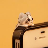 Wholesale kpop cute cat ear Jack anti dust plug for cell phone/brand designer new fashion 2014 kawaii earphone cap