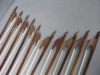 10pcs strong baroque style blackwood 4/4 violin bows