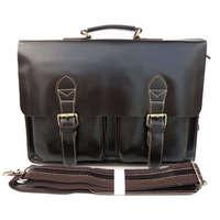 Free shipping by EMS!!handmade Rare 100% Genuine Vintage Leather Men's Briefcase Laptop Handbag Messenger Shoulder Bag 7105C