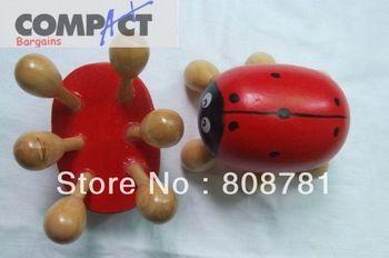300pcs/lot Coccinella massager device head massage wood knee wooden massage 6 Feet  head wooden massager DHL/Fedex Free shipping