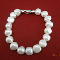 Free shipping 9-10mm Baroque Pearl Bracelet  gift for friends freshwater pearl bracelet