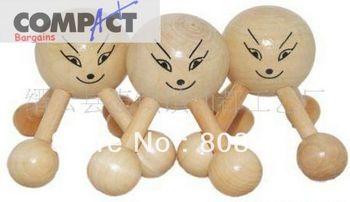 Smile massage device head massage wood knee wooden massage 4 Feet  head wooden massager 300pcs/lot DHL/Fedex Free shipping
