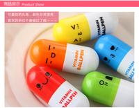 Cartoon pill retractable pen portable ballpoint pen Promotional candy color ballpoint pencil gift free shipping