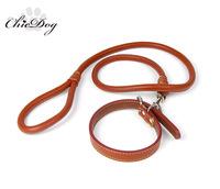 Pet leash dog leather leash genuine teddy leash genuine leather