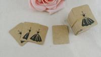 Free Shipping! Wholesale 200pcs/lot Brown Paper  Custom Price tags price Hang tag Retro Gift Hang tag