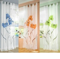 New Beautiful handmade ready made gauze sheer curtain window screening  150*245cm 1 pcs