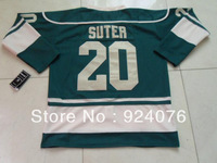 Free Shipping - 2013 Ice Hockey Jerseys Cheap New Minnesota 20# Ryan Suter green - Can Customize (XXS-6XL)