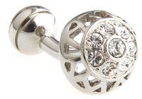Fashion Cufflinks Men's Jewelry Cuff links Hollow Out CZ Crystal Designer Metal Cufflink Accessories