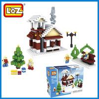 Loz  assembling building blocks mini small particles nanoblock christmas office decoration accessories