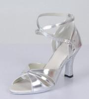 Silver Latin shoes Latin dance shoes dance shoes