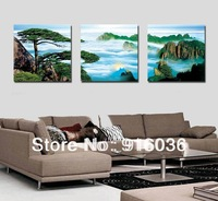 3 Piece Free shipping Hot selling Wall Hanging Art Painting Decorative Paint Tree Landscape Canvas Print Huge Picture pt452