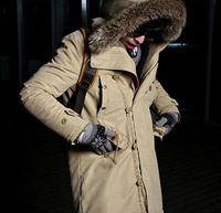 2013 Winter New Men's Cotton Padded Hooded Men Flocking Thick Warm Coat