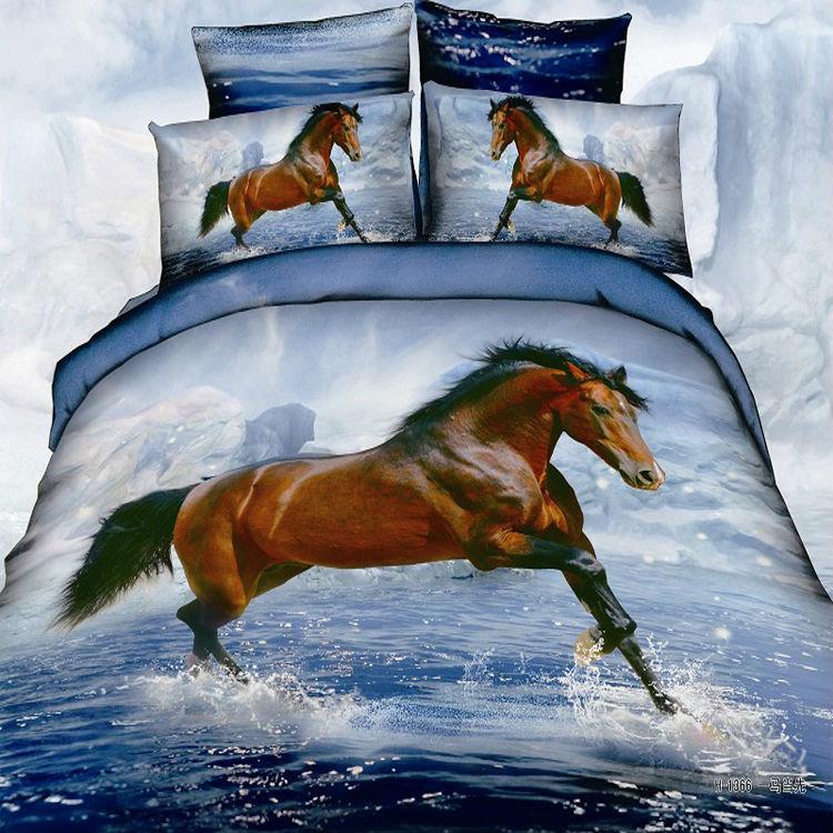 Housses de couette cheval promotion achetez des housses de - Housse de couette cheval ...