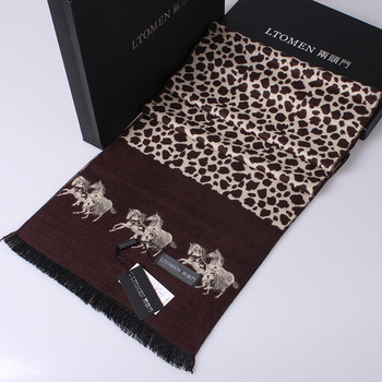 2013 leopard print scarf 100% cotton autumn and winter long design muffler scarf shawl 100% cotton   branded head scarf