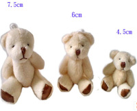 wholesale 4.5CM=1.77inch cheap white mini plush teddy bear phone pendant cartoon bouquet doll wedding gifts