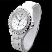 Dropship  Free shipping! brand sinobi women's diamond crystal stone bracelets wrist watch, japan Move, women watch
